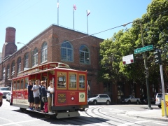 The Cable Car Museum sits on the corner of Washington and Post