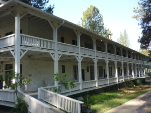 The Wawona Hotel opened in 1865 as a primitive setting for the Valley's early tourists.