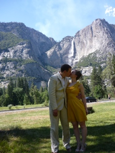 Andrew - my forever traveling companion - and me in Yosemite Valley