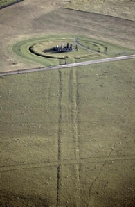 Periglacial stripes run parallel to the Stonehenge Avenue; Credit: English Heritage