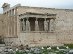The Erechtheion, with the Porch of the Caryatids.