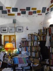 Atlantis Books' cramped interior