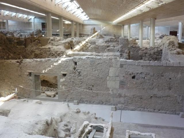 Akrotiri's ruins - the Greek Pompeii