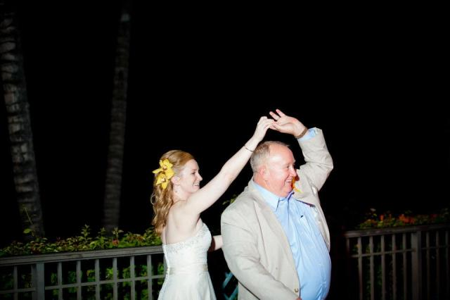 My dad and me, happily dancing