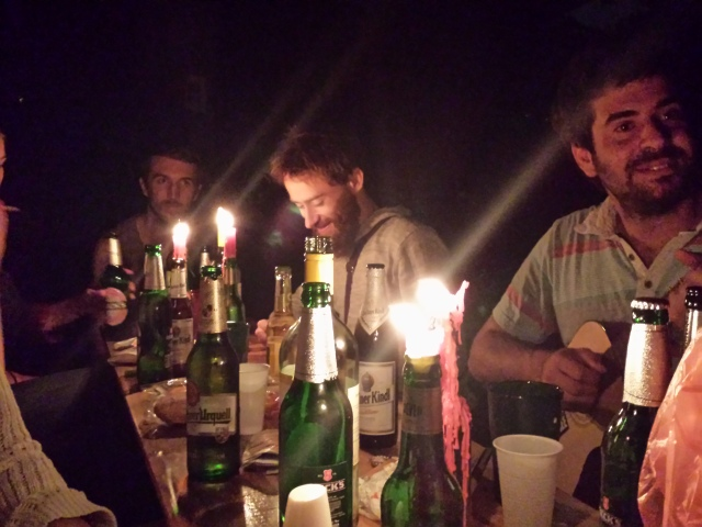Candlelight picnic in Neukoelln with friends